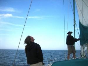Raising the Mainsail