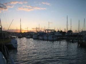 Sunset at Riverside Dock