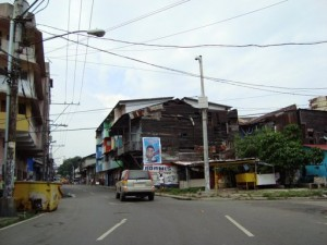 Residential area in Panama City