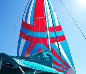Spinnaker Set on a Starboard Tack
