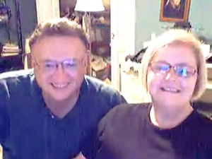My parents as captured on skype