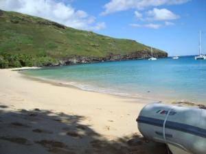 View from Hanamoenoa Beach